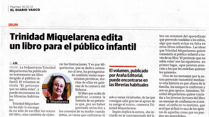 Crónica en el Diario Vasco