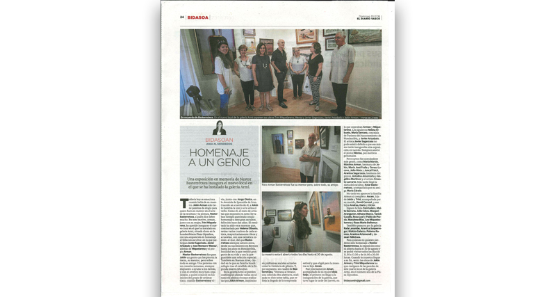 Exposición Homenaje a Nestor Basterrexea